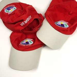 Disney Vacation Club Member Hats Lot of 3 One Size